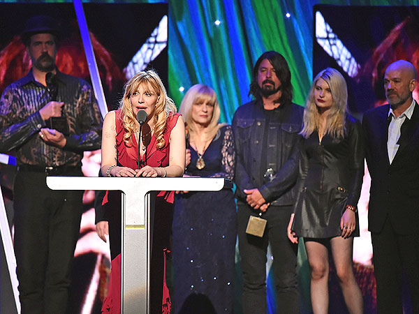 Courtney Love Unites with Remaining Nirvana Members at Rock and Roll Hall of Fame Induction