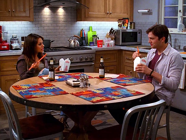 Mila Kunis and Ashton Kutcher Joke About Their Real-Life Engagement on Two and a Half Men