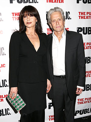 Michael Douglas and Catherine Zeta-Jones Attend Opening Night of The Library