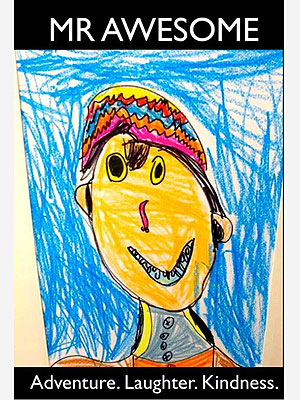 Calder Sloan: Boy Remembered Through 'Mr. Awesome' Self-Portrait