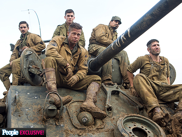 Brad Pitt as Sergeant 'Wardaddy' in Fury: PHOTOS