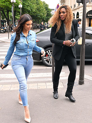 Kim Kardashian's Wedding Dress Shopping Partner? Serena Williams