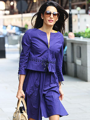 George Clooney's Fiancee Amal Alamuddin Looks Glam on Way to Work in London