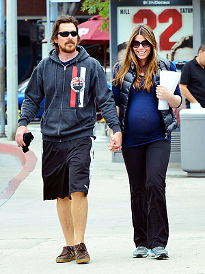 Christian Bale and Pregnant Sibi Blazic Step Out in Los Angeles