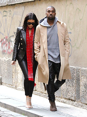 Kim Kardashian and Kanye West Take a Honeymoon Stroll in Prague