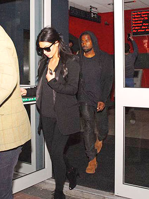 Kim Kardashian and Kanye West Catch Two Movies in Ireland