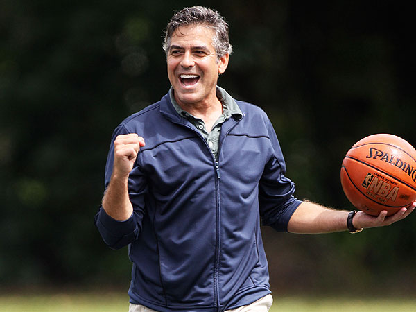 George Clooney Plays Basketball with Student from His Old Kentucky High School