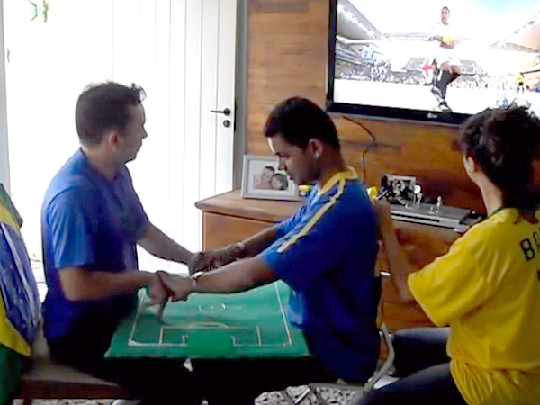 Brazilian Teacher Builds a Replica of Soccer Field for Blind Student