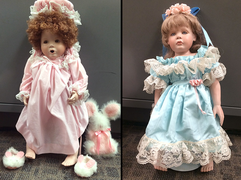 Dolls Resembling Young Girls Placed Outside Their Homes in California