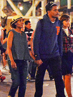 PHOTO: Kerry Washington and Nnamdi Asomugha Visit Disneyland