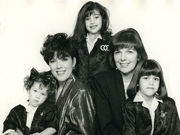 Kim Kardashian Posts Throwback Pic with Mom and Sisters for Her Grandmother's 80th Birthday