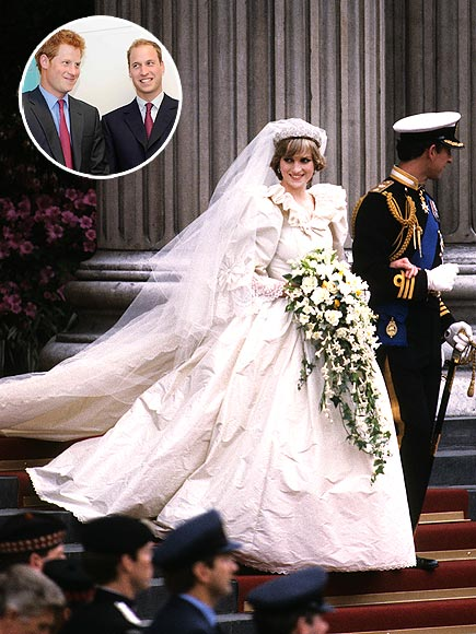 Princess Diana's Wedding Dress Going to Princes William and Harry