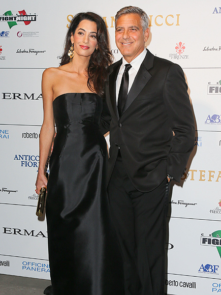 George Clooney Talks Wedding at Charity Event in Italy