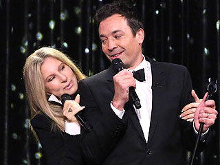 Jimmy Fallon Channels Elvis, Blake & Bublé for Duets with Barbra Streisand (VIDEO)