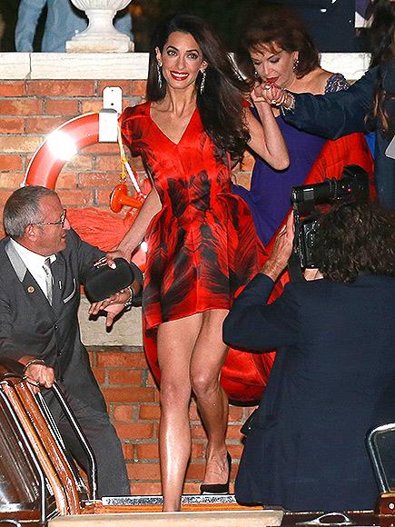 George Clooney's Bride Amal Alamuddin Celebrates with Female Friends in Venice