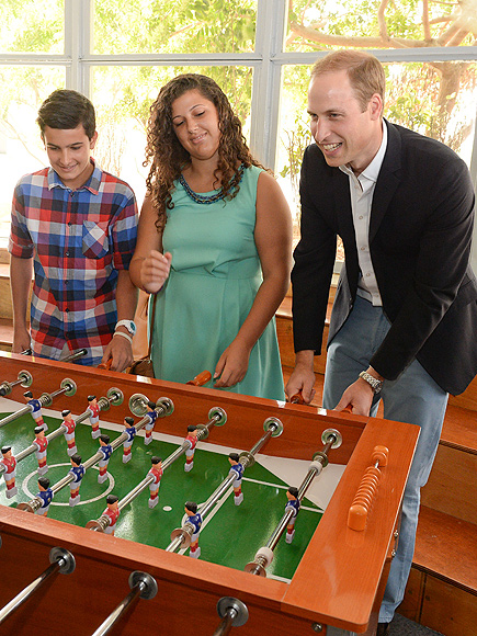 Prince William Tours Malta Teen Center