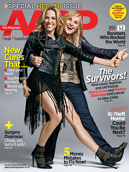 Sheryl Crow and Melissa Etheridge Talk Breast Cancer, Sex After 50