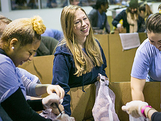 Chelsea Clinton Lends Her New-Mom Hours to Feed Those in Need