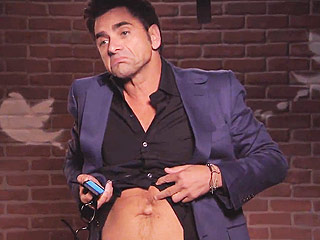 John Stamos Gets Belly Button Shamed in Latest 'Celebrities Read Mean Tweets' (VIDEO)