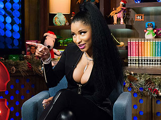 Nicki Minaj Enlivens Watch What Happens with a Wardrobe Malfunction (VIDEO)