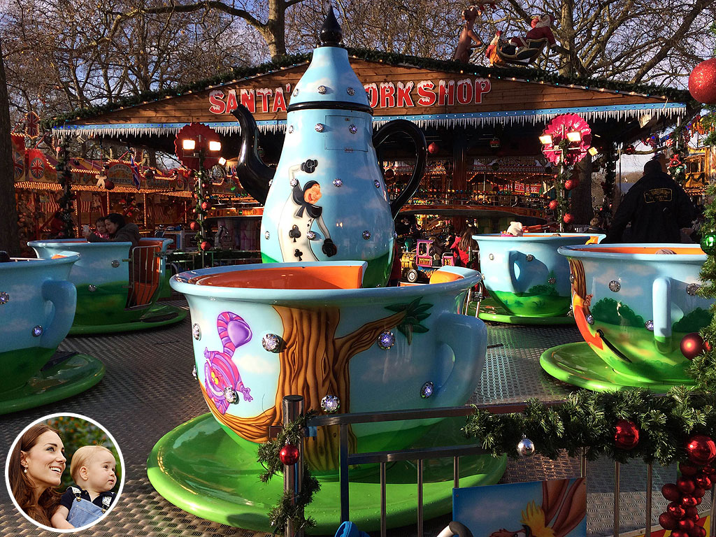 Princess Kate, Prince George Attend Winter Wonderland Holiday Fair