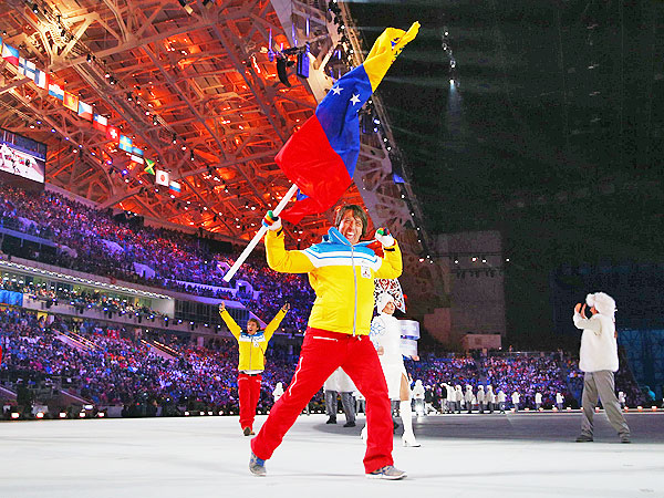 Antonio Pardo, Venezuela Alpine Skier, Charms with Opening Ceremony Dance