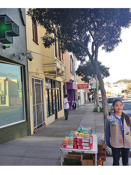 Girl Scout Sells Cookies Outside Medical Marijuana Dispensary