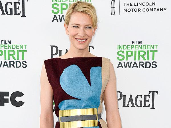 Cate Blanchett Talks 'Blue Jasmine' Wardrobe at Independent Spirit Awards