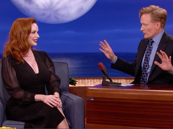 Christina Hendricks on conan