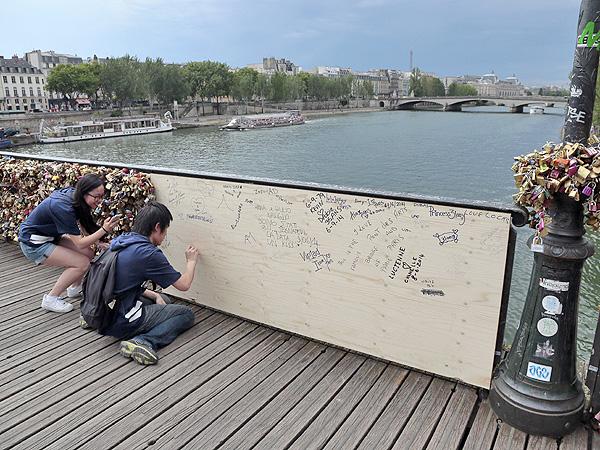 Pont des Arts Bridge in Paris Breaks Under Weight of Love Locks