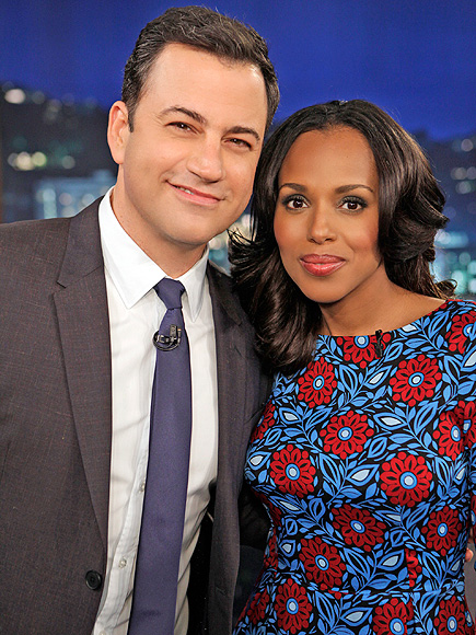 Kerry Washington Baby: Star Talks Details with Jimmy Kimmel