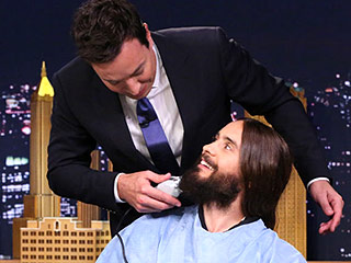 Jared Leto Gets an On-Air Beard Trim from Jimmy Fallon (VIDEO)