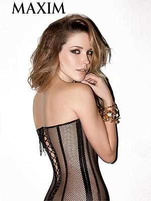 Sophia Bush Wears Skintight See-Thru Corset in Sexy Magazine Spread