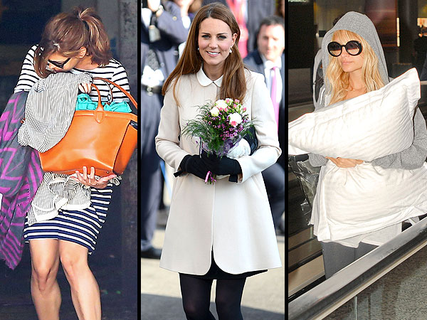 See How Celebrities Hide Their Growing Baby Bumps