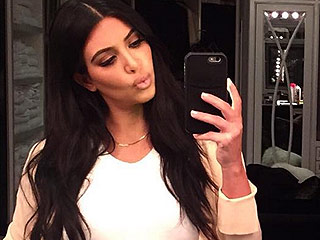 Sweet Dreams! Kim Kardashian West Snaps a Selfie to Tell Her Unborn Son 'Good Night'