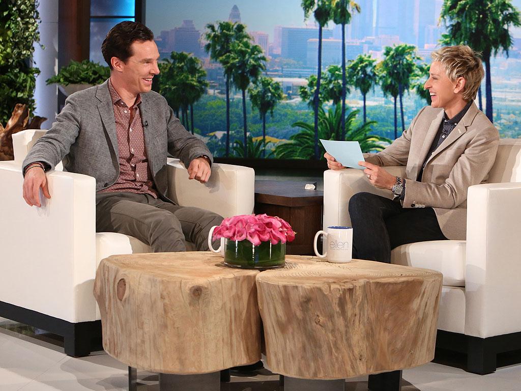 Benedict Cumberbatch Teased by Ellen DeGeneres Over Golden Globes Photobomb