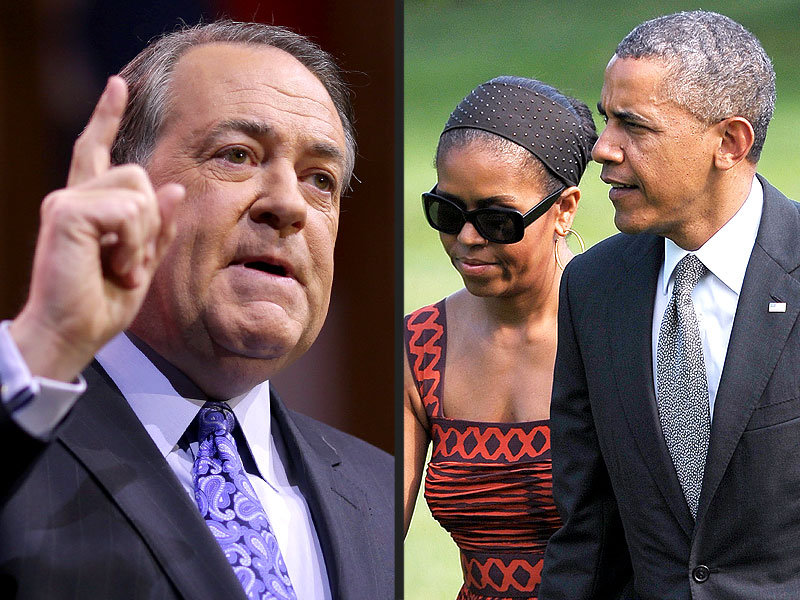 GOP's Mike Huckabee Questions the Obamas' Parenting of Sasha and Malia