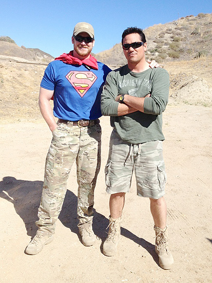 Chris kyle left and dean cain