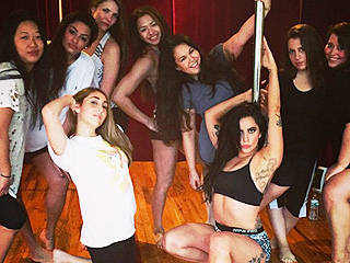 Watch: Lady Gaga Pole Dances for Her Friend's Bachelorette Party