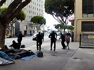 Los Angeles Police Say Homeless Man Grabbed Officer's Gun Before He Was Shot Dead