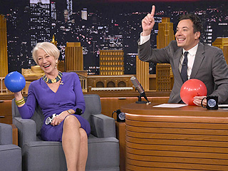 Watch Helen Mirren Play with Helium on The Tonight Show (VIDEO)