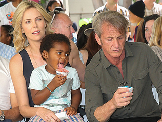 Sean Penn Shares A Snow Cone With Charlize Theron's Son in Adorable Family Outing (PHOTOS)