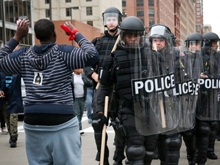 Baltimore Police Arrest 12 After Protests Over the Death of Freddie Gray Turn Violent