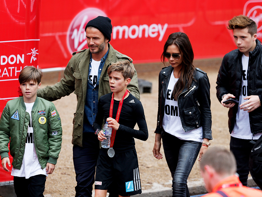Romeo Beckham Runs in London Marathon