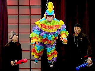 James Corden Becomes a Human Piñata for Kaley Cuoco-Sweeting and LL Cool J (VIDEO)