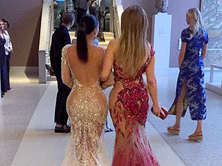 See Jennifer Lopez and Kim Kardashian's Met Gala Dresses from Quite a Different Angle