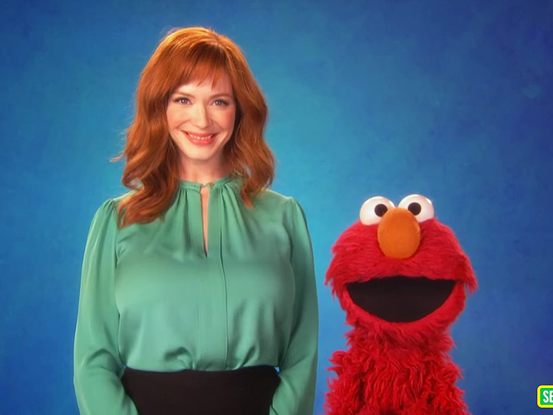 Christina Hendricks on sesame street