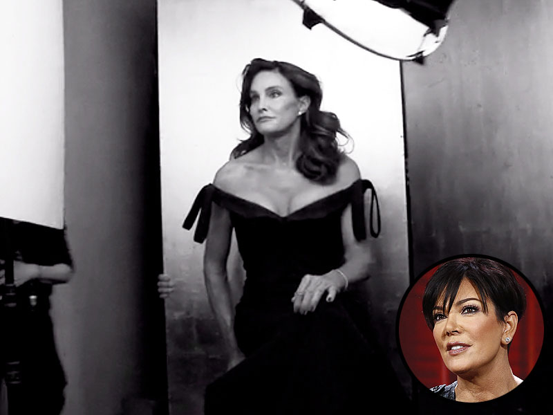 Caitlyn Jenner: Kris Jenner Reacts to Former Bruce Jenner's Debut as a Woman