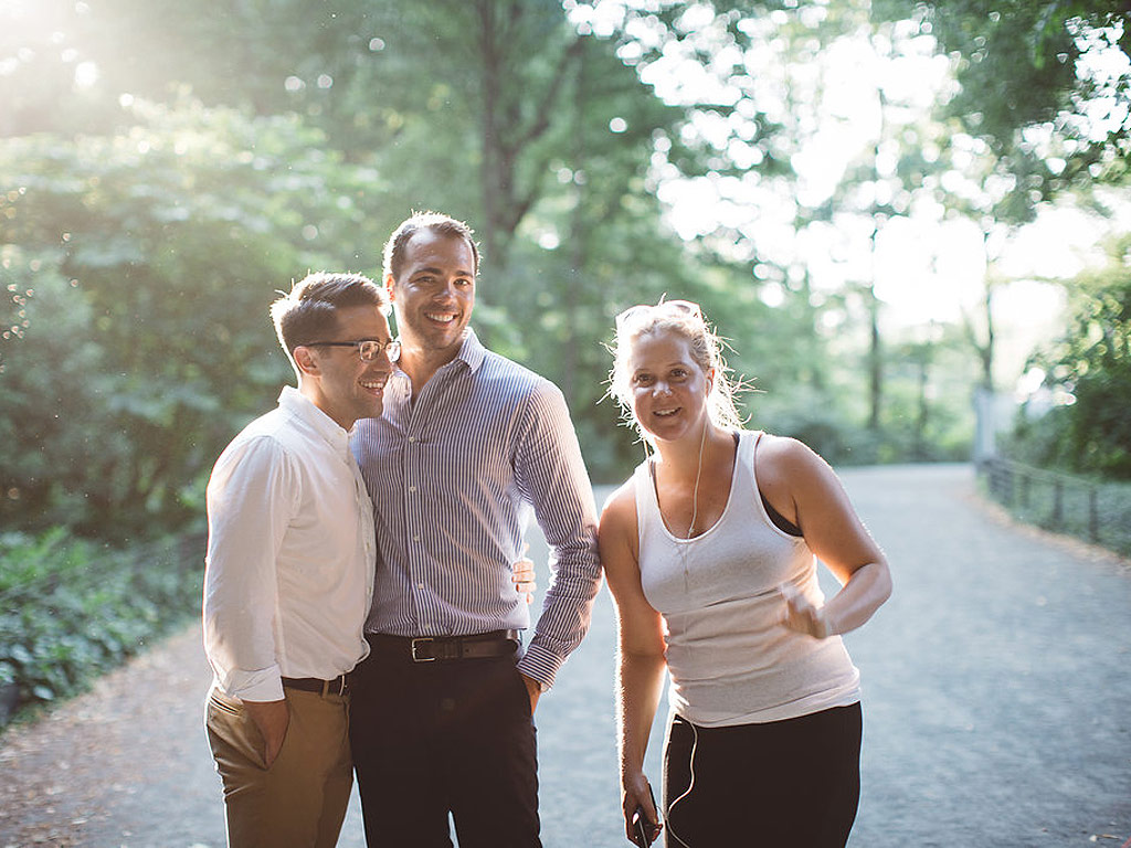 Amy Schumer Photobombs a Couple's Engagement Shoot in Central Park: Photo