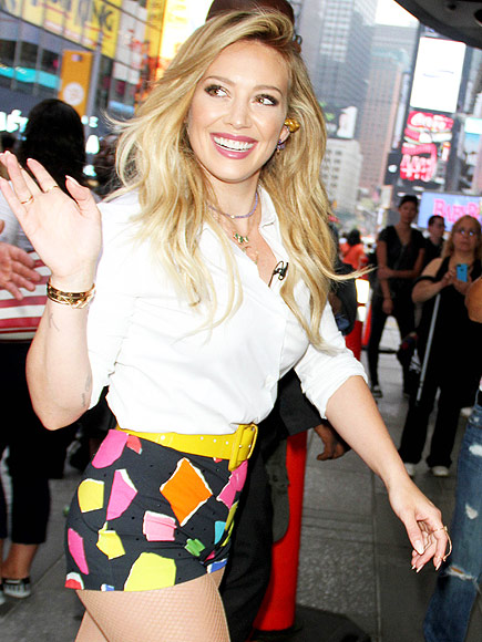 Hilary Duff Wears Booty Shorts After Breathe In Breathe Out Release ... Hilary Duff